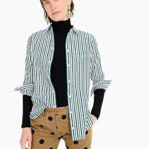 J Crew Classic Boy shirt button up stripe 6 NWT